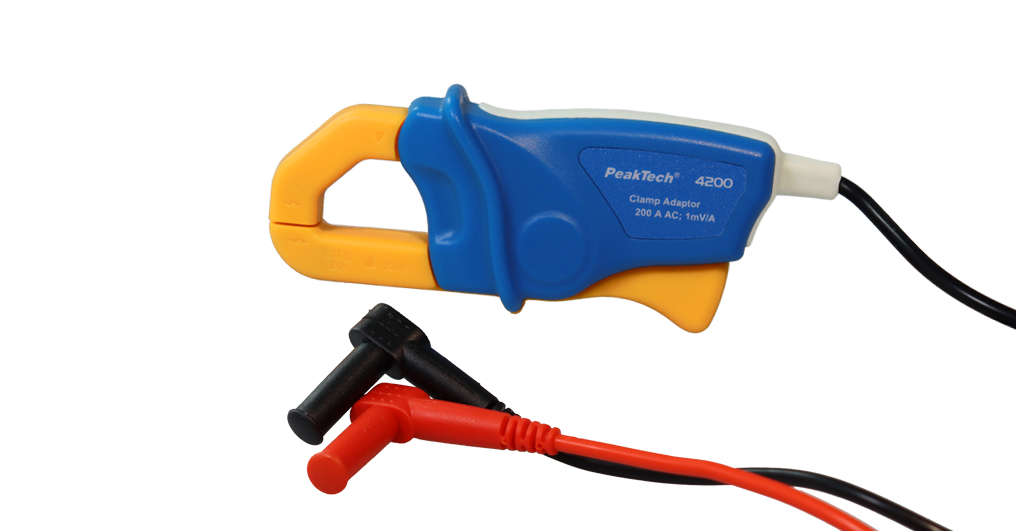 «PeakTech® P 4200» Current Clamp Adapter 200 A AC, with 4mm Plugs