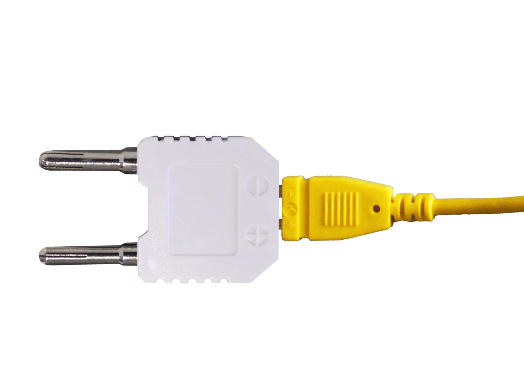 «PeakTech® P TA» Temperatur-Adapter für Typ-K-Fühler ~ 4mm Stecker
