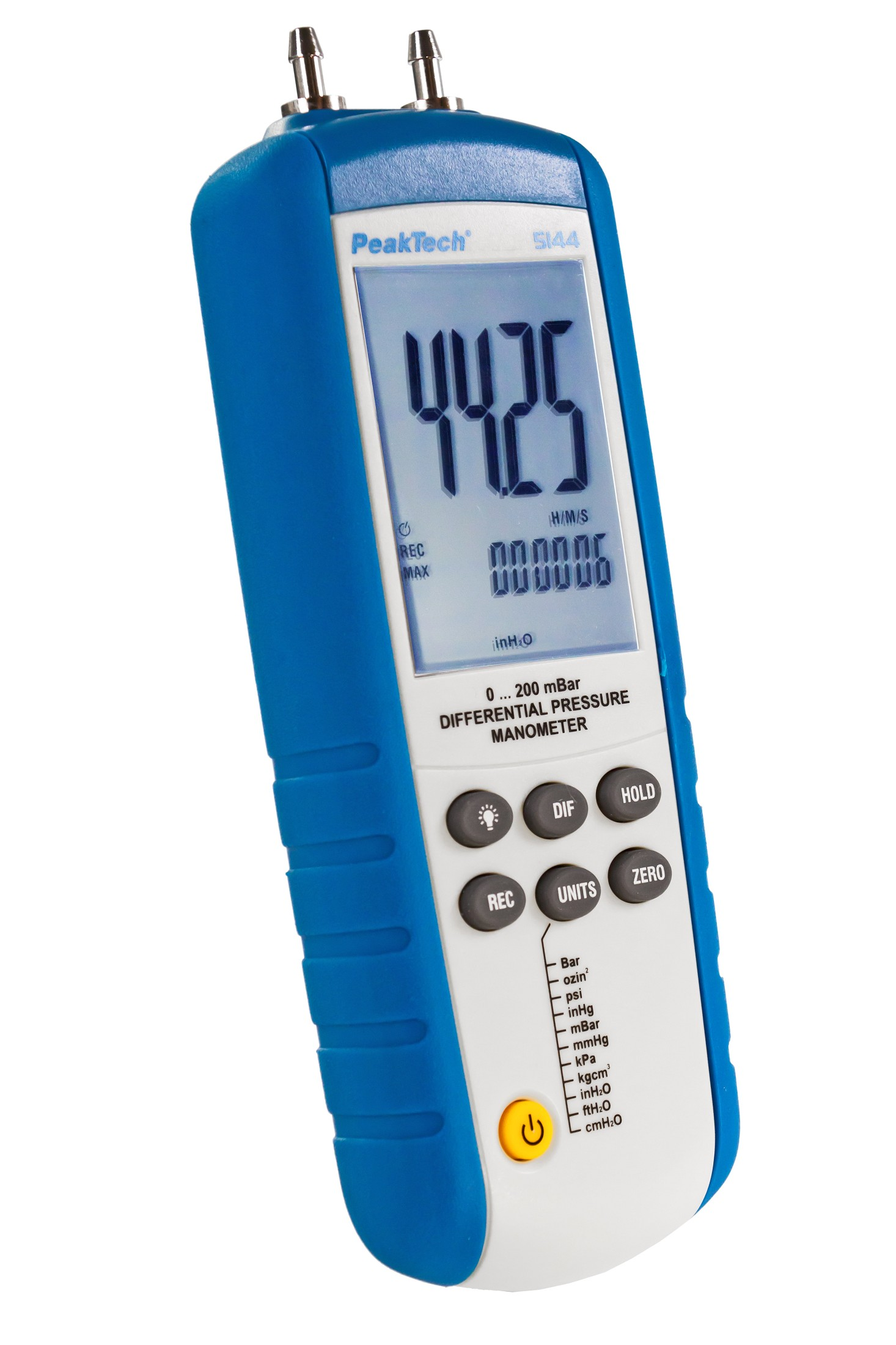 «PeakTech® P 5144» Differential pressure Meter 0...200 mbar with USB
