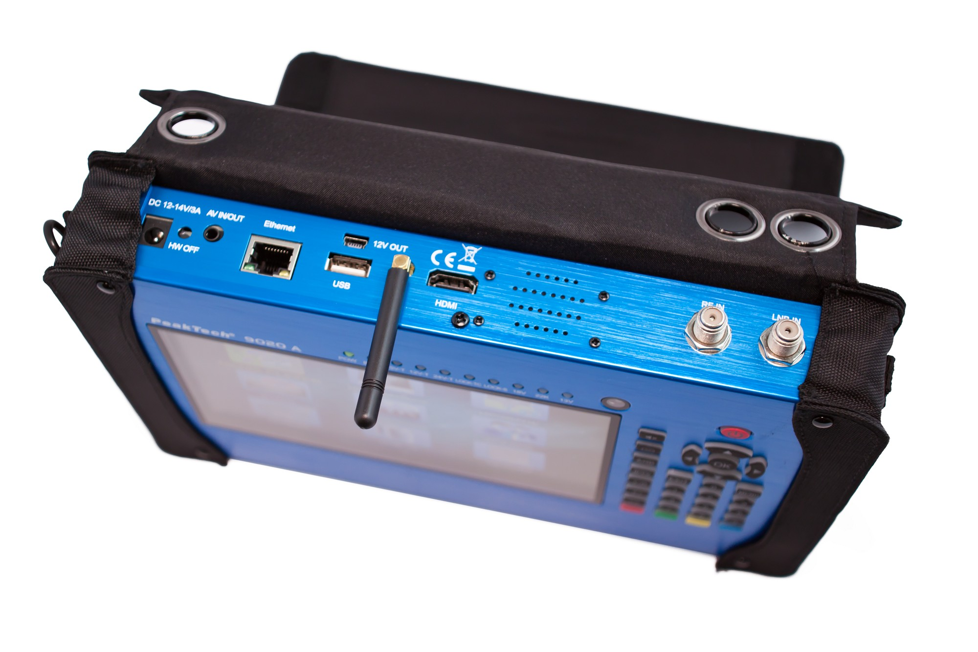 """«PeakTech® P 9020 A» DVB-C / C2, S / S2, T / T2 meter with 7 """"display, codec, WiFi / LAN and Ci slot"""
