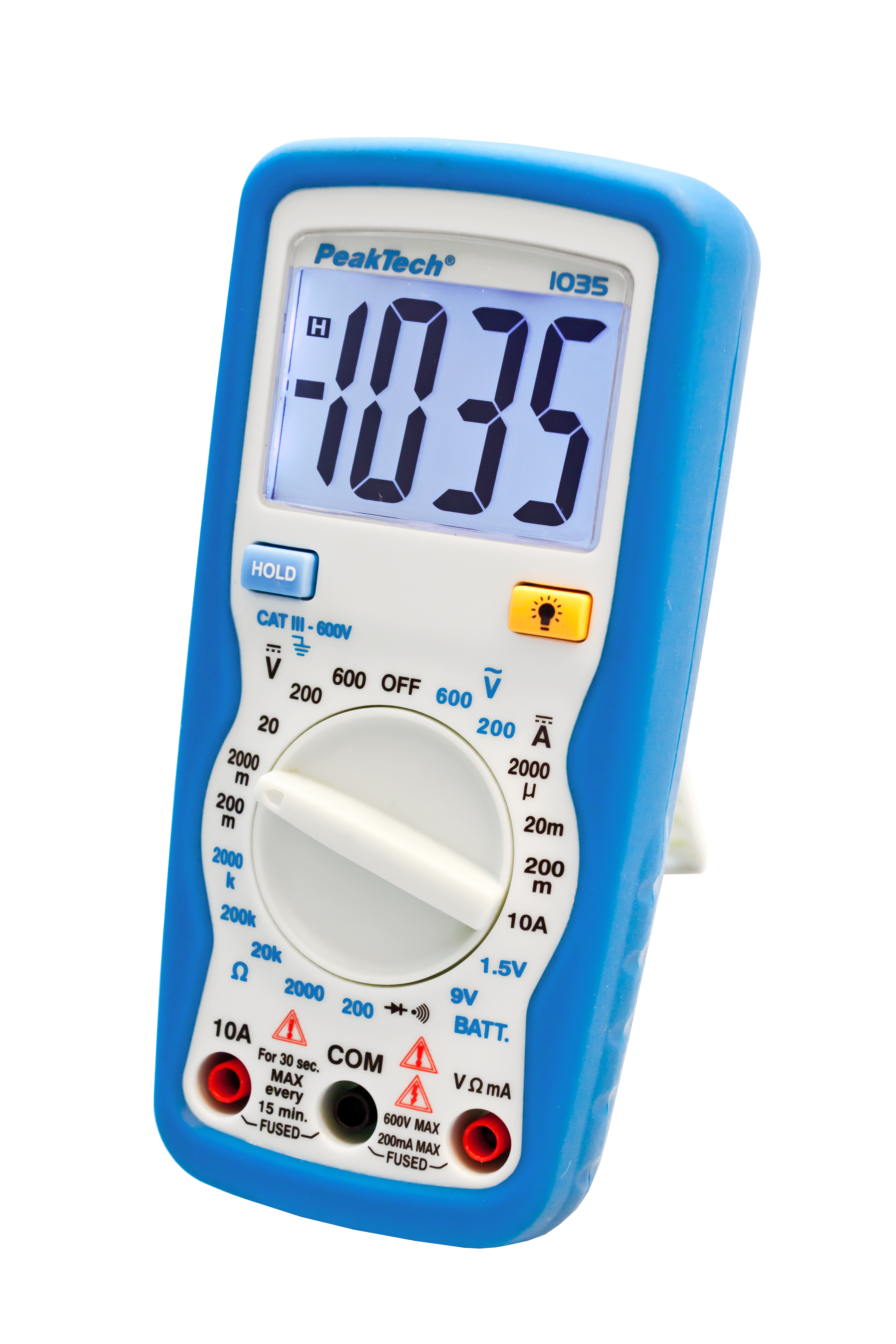 «PeakTech® P 1035» 600V AC / DC digital multimeter ~ 2000 digit LCD