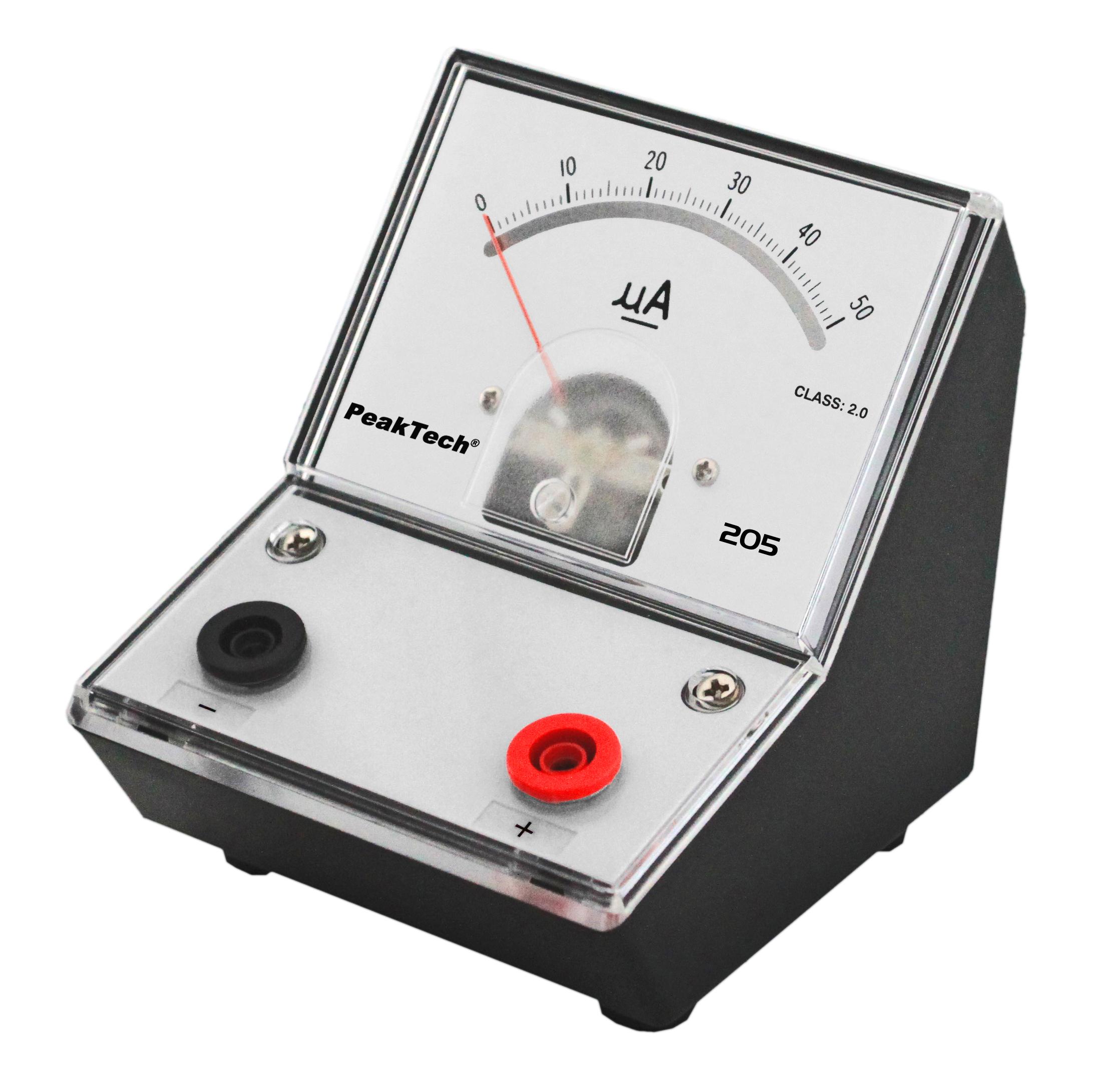 «PeakTech® P 205-01» Analog amperemeter - 0 ... 50µA DC