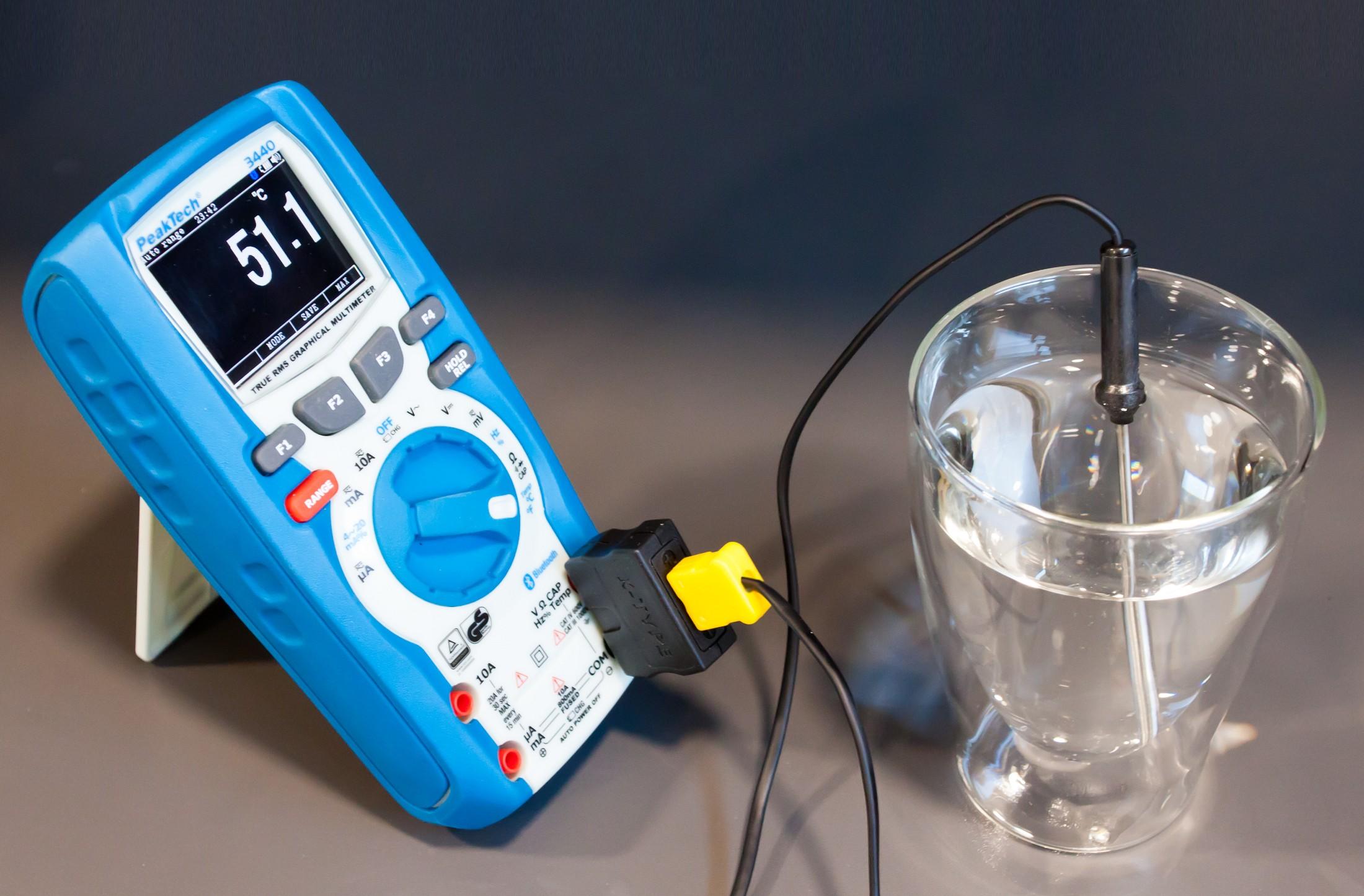 «PeakTech® P TF-55» Universal-Temperature-Probe, -50...+300°C