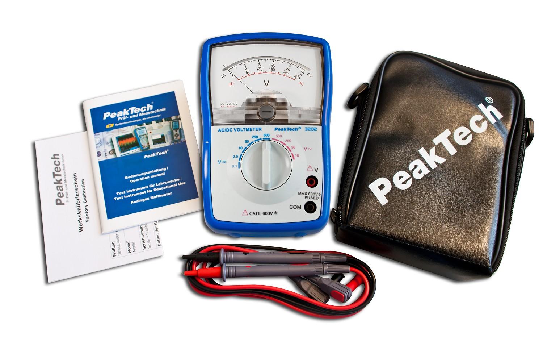 «PeakTech® P 3202» Analog voltmeter, 500 V AC / DC